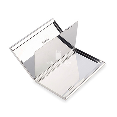 Credit Card Holder with Dual Compartment Silver