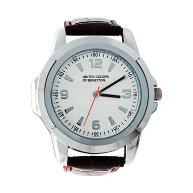 United Colors of Benetton Analog Watch for Men Silver White Dial