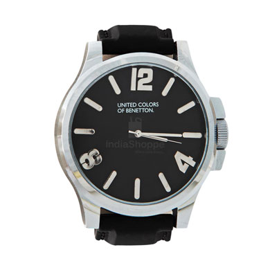 United Colors of Benetton Analog Watch for Men Black Dial BSI