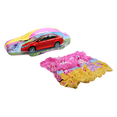 Compressed Towels Car Shape