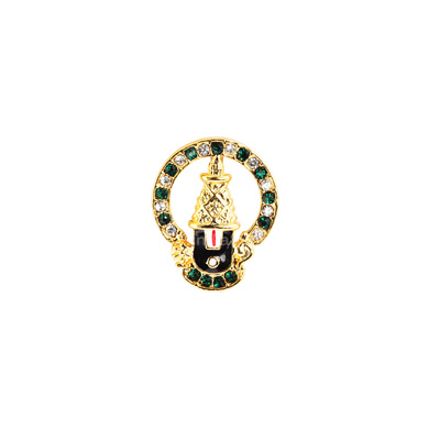 Auraa Thirupati Balaji within a halo Pendant