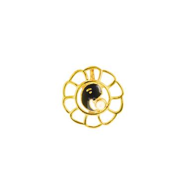 Auraa Ganesha within Golden Lotus Pendant