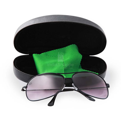 United Colors of Benetton Black Aviator Unisex Sunglasses