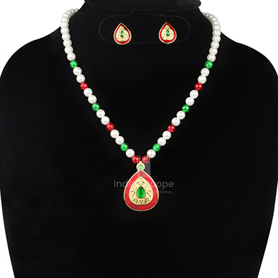 Anokhee AN S25 CZ Link Sets with Pearl Mala