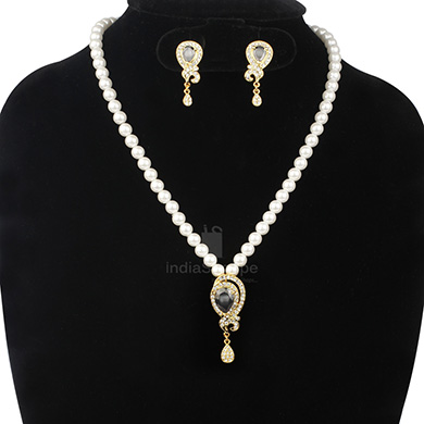 Anokhee AN S24 CZ Link Sets with Pearl Mala