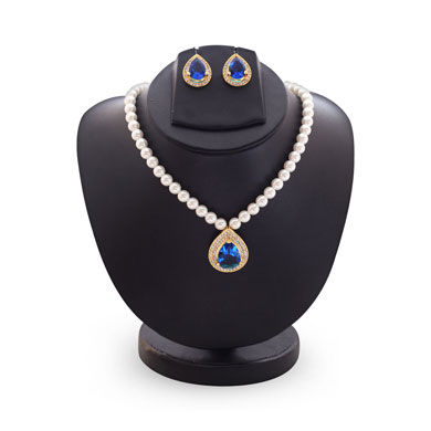 Anokhee AN S22 CZ Link Sets with Pearl Mala