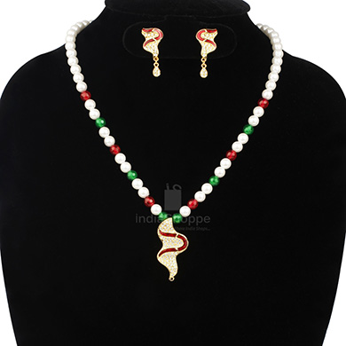 Anokhee AN S21 CZ Link Sets with Pearl Mala