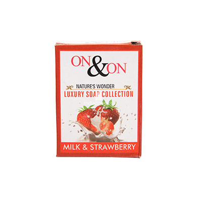 On On Natures Luxury Milk and Strawberry Soap