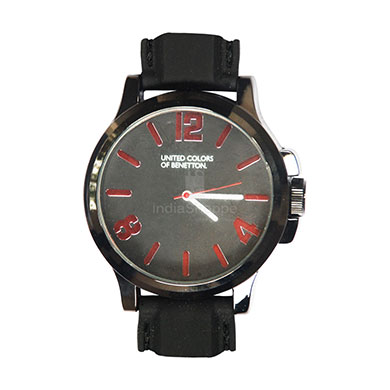 UCB Analog Watch for Men Black/Red Dial