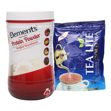 Combo Protein Powder and Tealite