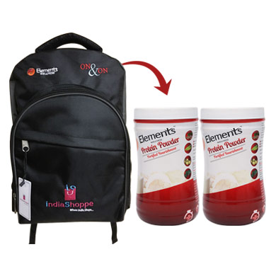 Combo School Bag and Protein Powder