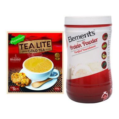Combo Tealite Premium and Protein Powder